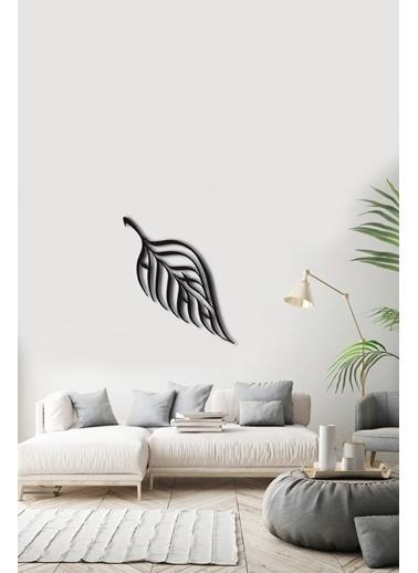 Angemiel Home Yaprak Dekorasyon Metal Duvar Tablosu Siyah